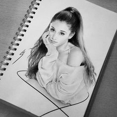 Ariana Grande drawing OMG this looks soo real