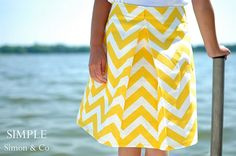 love this skirt.  the fabric is perfect for the style, but may be hard to work with so the stripes dont go all crazy