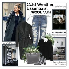 """""""Cold Weather Essentials: Wool Coat"""" by lilly-2711 ❤ liked on Polyvore featuring H&M, J.Lindeberg, Current/Elliott, Alexander Wang, Charles Jourdan and Acne Studios"""