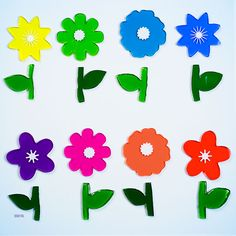 GelWonder | Window Clings | Large Bag of Rainbow Flower | Spring Flowers | Can be used on any non-porous surface | www.homearama.co.uk