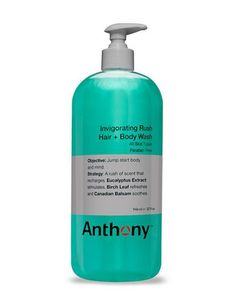 Anthony Invigorating Rush Hair and Body Wash 32oz Men's