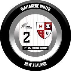 DNZ Football Buttons: Waitakere United                                                                                                                                                                                 Mais