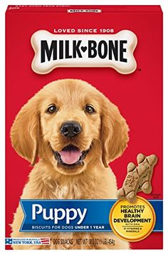 Milk-Bone Original Puppy Dog Treats, 16-Ounce (pack of 6)... http://www.amazon.com/dp/B001M074NI/ref=cm_sw_r_pi_dp_sjtjxb1R3KAG1  4 each