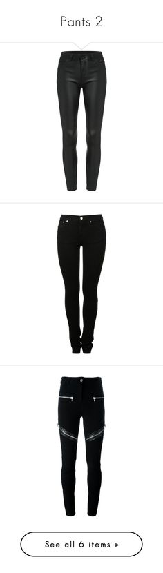 """""""Pants 2"""" by annearchy ❤ liked on Polyvore featuring pants, bottoms, jeans, trousers, black, long trousers, slim pants, slim fit trousers, slim trousers and slim fit pants"""