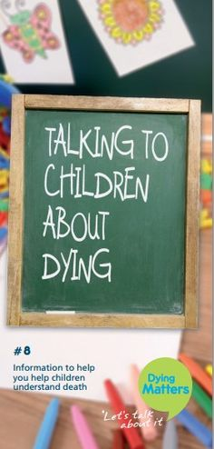Information to help you help children understand death: http://www.dyingmatters.org/sites/default/files/user/images/Resources/Promo%20materials/Leaflet_8_Web.pdf