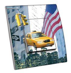 Interrupteur décoré Villes - Voyages / New York 11 simple - Decorupteur