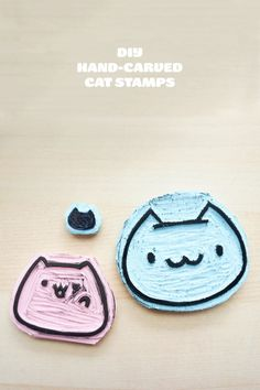 DIY Hand Carved Cat Stamps Tutorial