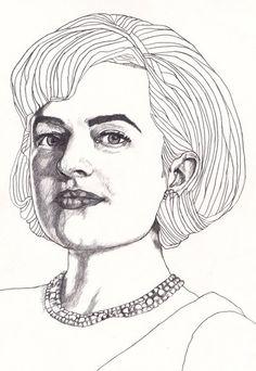 Mad Men - Peggy - Original Signed Paul Nelson-Esch Drawing Art pencil Illustration portraiture unique decor home tv artist retro - Free S&H