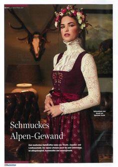Tostmann Trachten: Presse 2017 ❤ Forest Fashion, Folk Fashion, Gothic Fashion, Medieval Dress Pattern, Dirndl Dress, German Fashion, Mode Boho, Folk Costume, Costumes