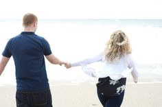 Jenna and James, beach engagement photographs at Porthleven. - Webb Family Photography.