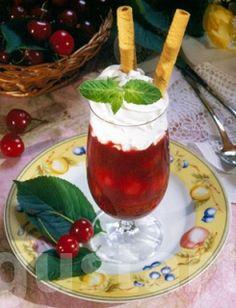 Lajos Mari konyhája - Részeges meggykrém Sweet Desserts, Cocktails, Pudding, Food, Craft Cocktails, Custard Pudding, Essen, Cocktail, Puddings