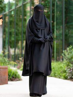 Mahasen Jilbab Set in Classic Black – Al Shams Abayas Niqab Fashion, Fashion Poses, Muslim Fashion, Hijab Niqab, Muslim Hijab, Casual Hijab Outfit, Hijab Dress, Muslim Wedding Dresses, Dress Wedding