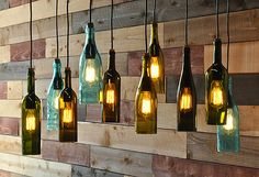 Recycled bottle chandelier  The Napa por MoonshineLamp en Etsy, $1190.00