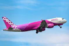 """kekemachida: """" Tokyo, Narita International Airport (NRT) / Peach Aviation Airbus320-200 """""""
