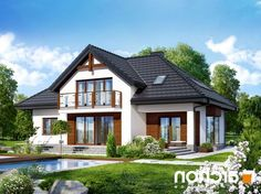 Dom w kalateach 3 Best House Plans, Dream House Plans, My Dream Home, Simple House Design, Prefabricated Houses, Apartment Layout, Architectural Design House Plans, Home Design Plans, Design Case
