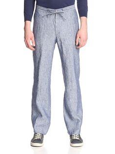mens navy linen pants - Pi Pants