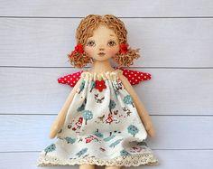 Textile doll Tilda doll Tilda angel by NilaDolss on Etsy