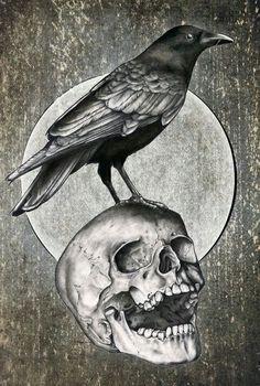 Вороны – тату эскизы • Идеи татуировок с вороном • Ворон – значение тату