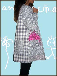 Bata maestra Janire, coqueta. Andereño Janire mantala, panpoxa ;) Preschool Education, Tunic, Teacher, Summer Dresses, Sewing, Crafts, Handmade, Fashion, Apron