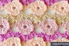 Flower Crochet Stitch | MyPicot | Free crochet patterns