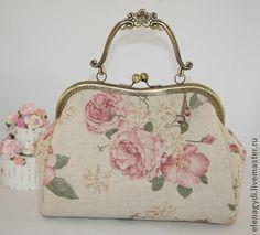 Сумочка Роза чайная - бежевый,цветочный,сумочка,сумочка ручной работы
