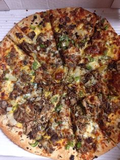 Steak & Cheese Pizza at J.D.'s Pizza and Grinders - Ypsilanti, MI  www.mrdelivery.com