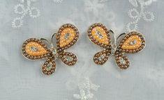 2 PCS Pearl Rhinestone Butterfly Flatback  by inthepinkroom, $4.85
