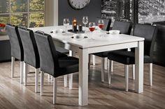 BOCCA-ruokailuryhmä (pöytä 180x95cm+6 keinonahkaverhoiltua tuolia)