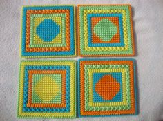 Tropical SpotsSet of 4 Coasters by MastersCreations on Etsy, $15.00