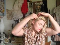 Betty Grable Victory Rolls Tutorial