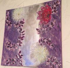 Acrylmalerei - flower abstract painting acrylic - ein Designerstück von Jevas bei DaWanda