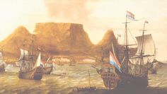Het schip dat Zuid-Afrika voor eeuwig veranderde. Was het VOC-schip de Haarlem niet voor de kust van Zuid-Afrika vergaan, dan was het land misschien nooit gekoloniseerd en een mix van blank en zwart geworden. Tall Ships, African History, Geography, Sailing Ships, South Africa, Holland, Dutch, Vintage Paintings, Ocean