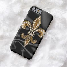 It's a cool iPhone 6 Case! This Gold Black Fleur De Lis Satin Jewel iPhone 6 Case is ready to be personalized or purchased as is. It's a perfect gift for you or your friends.