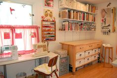 """Craft Room Love"" #furniture #painting #craftroom #inspiration"