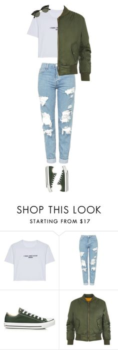 """""""Untitled #177"""" by keviprajna ❤ liked on Polyvore featuring WithChic, Topshop, Converse, WearAll and Ray-Ban"""