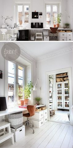 Home Office Space, Office Workspace, Glam Room, Interior Decorating, Interior Design, Scandinavian Home, White Houses, Interior Inspiration, Sweet Home