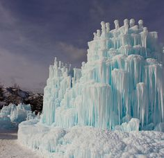 Ice castles in midway... check!