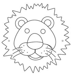 Mask, Lion Mask Coloring Page: Lion Mask Coloring PageFull