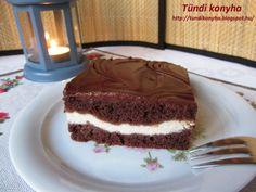Csokis sütemény túrókrémmel Recept képpel - Mindmegette.hu - Receptek