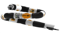 """A robot sea snake that could one day """"explore the Titanic"""" makes its debut at an ocean expo."""