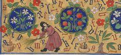 Horae ad usum romanum.  Date d'édition :  1401-1500  Latin 1156B  Folio 135r