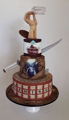 I hope you enjoy these amazing WALKING DEAD CAKE ideas. I do not claim ownership to photos on this page. You will find image sources below. Bolo The Walking Dead, Walking Dead Memes, Scary Cakes, Zombie Cakes, Horror Cake, Inside Cake, Cool Cake Designs, Holiday Cakes, Halloween Cakes