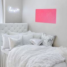 White Soft Loft Duvet Cover and Sham Set - Full/Queen Bedroom Decor For Couples, Room Ideas Bedroom, Bedroom Wall, Silver Bedroom Decor, Bedroom Office, College Room Decor, Dorm Room, Queen Bedding Sets, Teen Girl Bedrooms