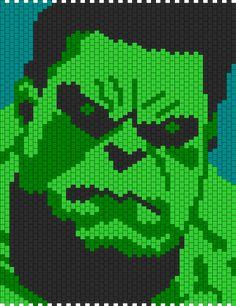 Hulk Head Bead Pattern