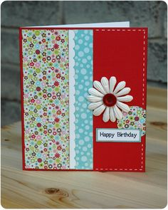 Crafty Cucumber: Card of the Week: When You've Finished a Scrapbook Layout, Make a Card