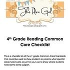 This is a checklist including each of the Common Core standards for Writing in fourth grade.  It could be used as check-in for students or to commu...