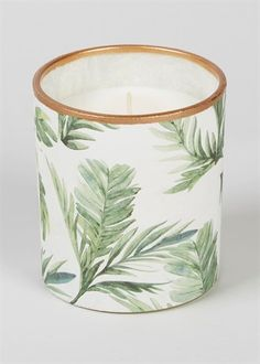 Pin for Later: 19 Palm-Print Items That'll Turn Your Home Into a Tropical Paradise Matalan Coconut & Pineapple Scented Glass Candle x Matalan Coconut & Pineapple Scented Glass Candle x Candle Shop, Glass Candle, Confederate Statues, Art Drawings For Kids, Light My Fire, Matalan, Tropical Paradise, Scented Candles, Tea Lights