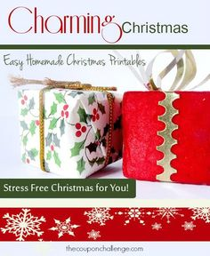 Print this FREE Charming Christmas Planner!  Get organized and have a stress for Christmas this year.