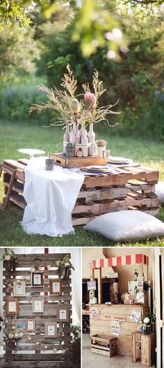 Bodas decoradas con pallets