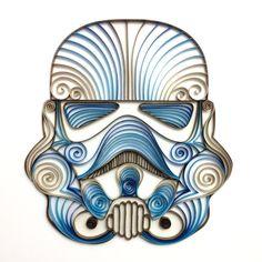 Star Wars quilling artQuilled Storm Trooper Helmet by AliaDesign